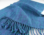 MADE TO ORDER HandWoven Table Runner Table Decor Blue Purple Green Cotton Hand Woven