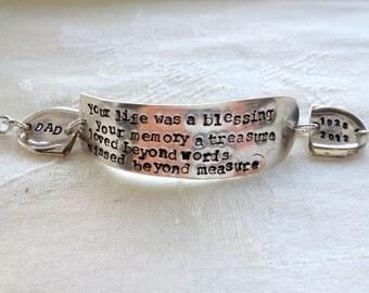Custom Stamped Memorial Bracelet