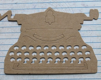 3 Unfinished chipboard die cuts Tim Holtz Typewriter 5 1/8 inches wide