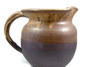 Stoneware Pitcher, Jug - Black Mountain Clay Pouring Vessel - Holds 1 1/2 Quarts - Handmade Ceramic - Wheel Thrown Pottery - Ships Today