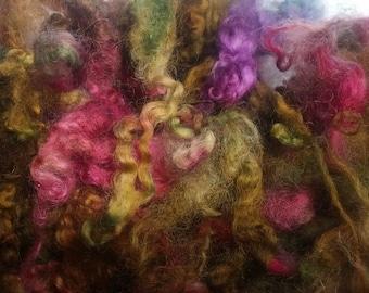 Wool locks sale buy 3 get 1 free fleece hand dyed Autumn Garden locks curls 2 oz.
