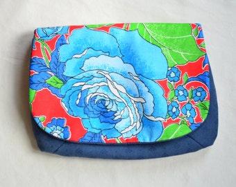 Blue Flower Chita Clutch