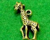 50 gold giraffe charms