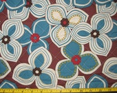 Contemporary Floral Design Japanese Asian Pre Quilted Fabric Half Meter Cut