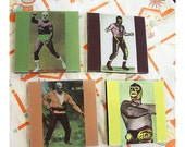 Mexican wrestler coasters lucha libre retro vintage mexico pop culture luchador
