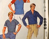 Vintage 80's Sewing Pattern McCall's 6953  Men's  Pullover Shirts Size Medium   Complete