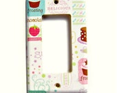Cake Sweets Cupcake Kitchen Wall Light Switch Cover Decorative Lightswitch Cover Rocker Decora Wall Decor (MTO)