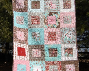 Modern Soft edge Baby  Toddler  Quilt