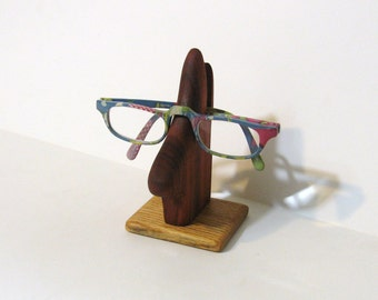 Eyeglass Holder Made Of Padauk And Oak Woods