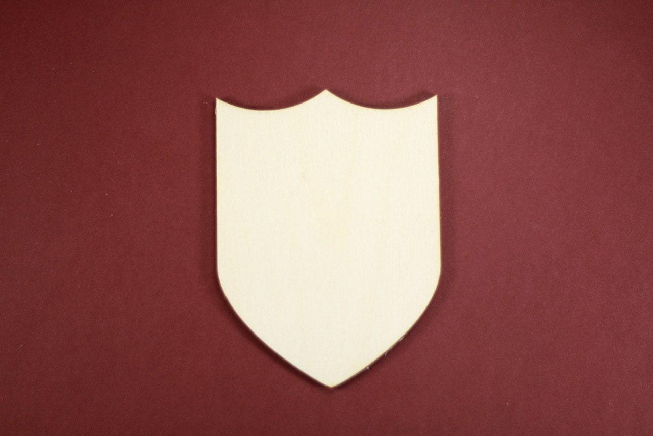 Shield Shape Unfinished Wood Laser Cut Shapes Crafts by cwlubin