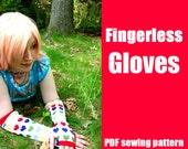 Fingerless Gloves or Armwarmers - WhatTheCraft Printable PDF Pattern - S thru L