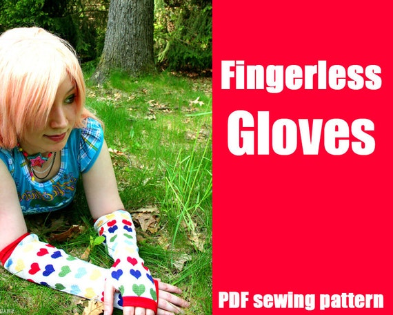 Fingerless Gloves or Armwarmers - WhatTheCraft Printable PDF Pattern - S thru L