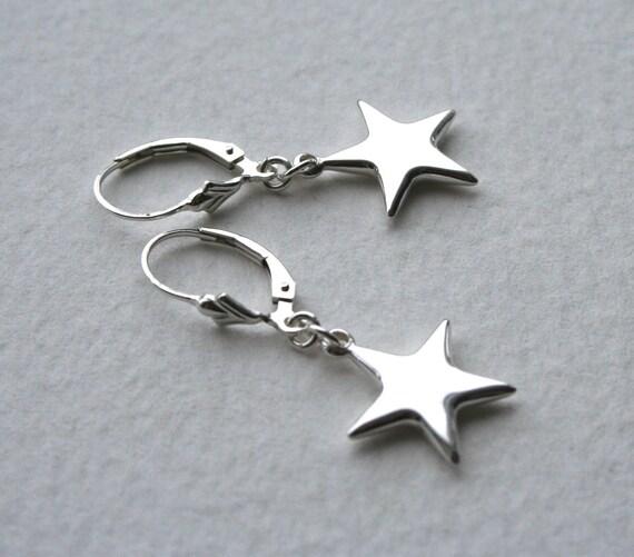 Sterling Silver Star Earrings Twinkle Twinkle