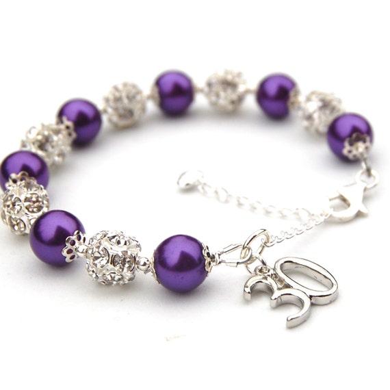 25th 30th 40th 50th 60th Birthday Charm Bracelet By AMIdesigns