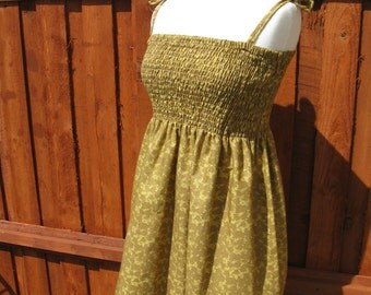 OOAK Upcycled Shirred Top Mini Dress/Top
