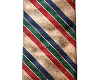 Vintage Menswear Silk Striped Preppy Necktie