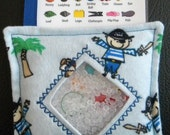 I Spy Bag - Mini with SEWN Word List and Detachable PICTURE LIST- Ahoy Matey
