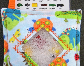I Spy Bag - Mini with SEWN Word List and Detachable PICTURE LIST- Frog and Friends