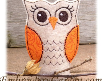 Owl Flameless Tealight Cover Machine Embroidery File Instant Download