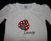 Valentines Ladybug Shirt  Monogrammed
