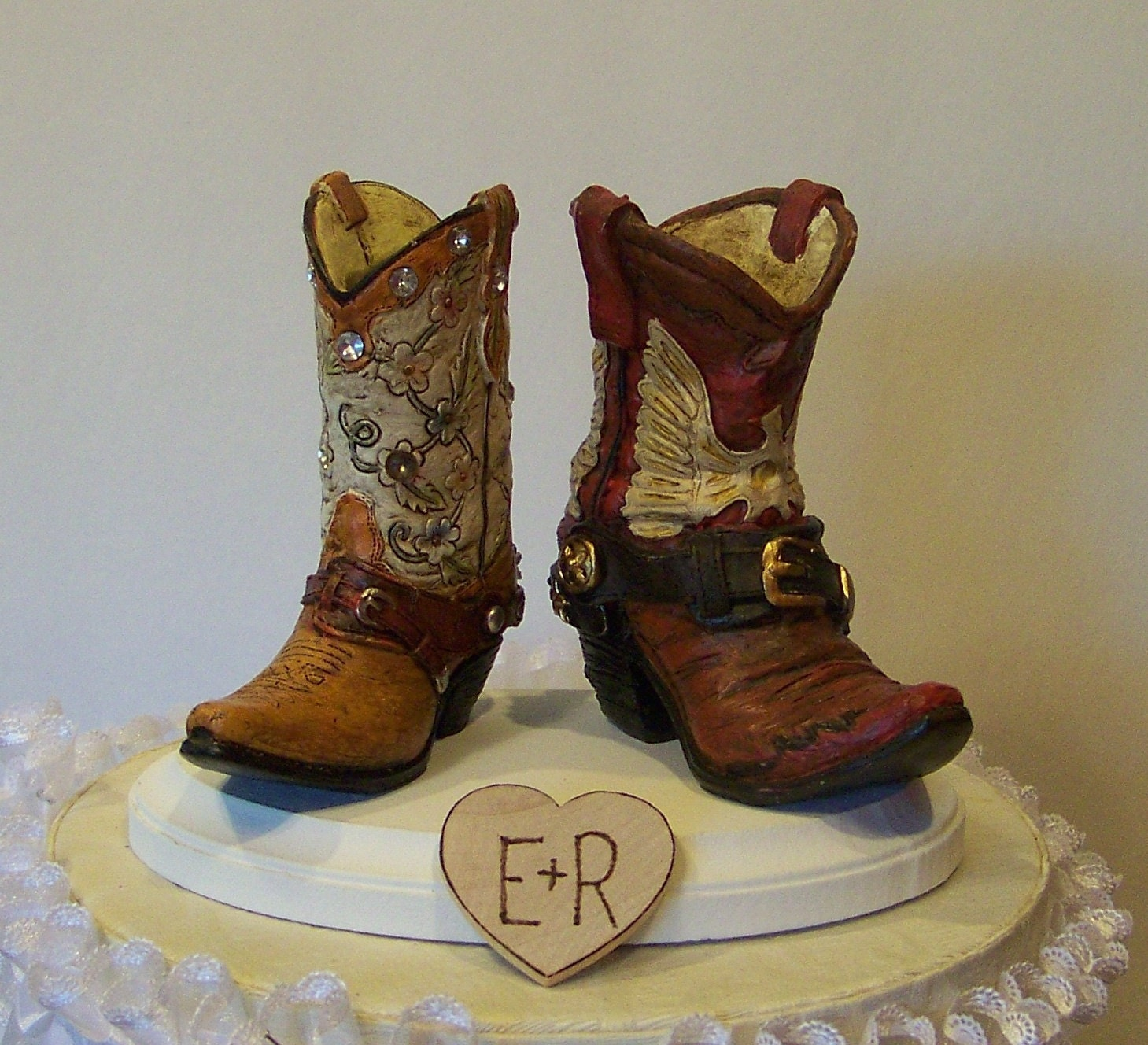 Bride In Boots Cake Topper