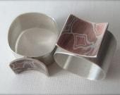 Mokume-gane ring, Large,  Contemplation Ring,