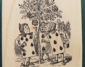 Alice in Wonderland rubber stamp WM P13