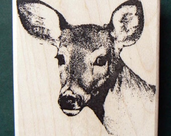 Young deer rubber stamp WM P9