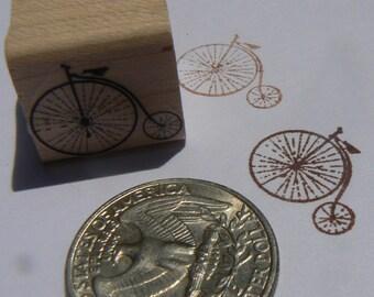 P24 Miniature Vintage bicycle rubber stamp WM