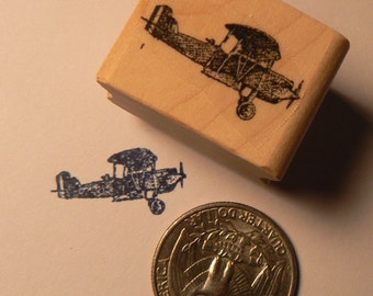 Airplane rubber stamp miniature P24