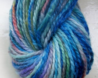 Hand painted yarn 50g  blue turquoise green by SpinningStreak