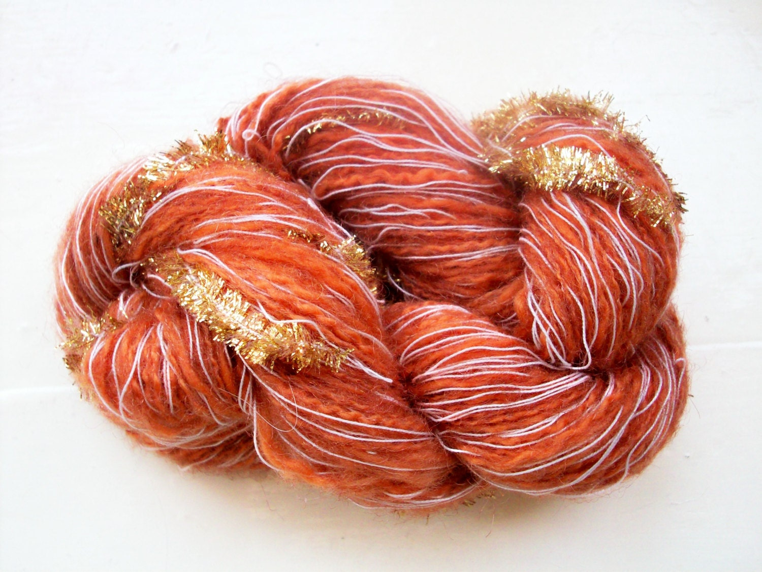 Novelty Yarn : Hand painted novelty yarn 50g brown tan by SpinningStreak on Etsy