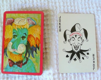 Vintage Deck of Cards - fun colorful retro animal images