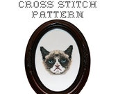 DIY - Grumpy Cat - .pdf Original Cross Stitch Pattern - Instant Download
