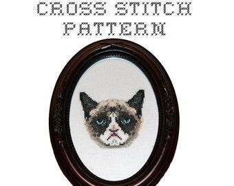 DIY - Grumpy Cat - .pdf Original Cross Stitch Pattern - Instant Download