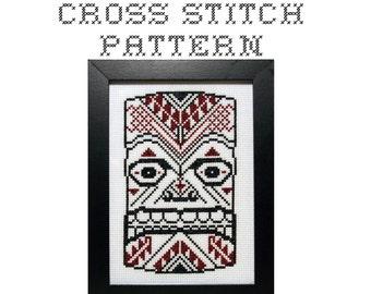 DIY Ceremonial Mask (version 2) - .pdf Original Cross Stitch Pattern - Instant Download
