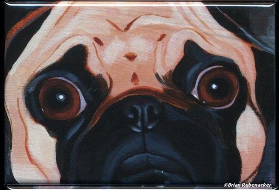 Pug Cute Dog Art Magnet