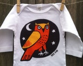 Orange Owl Long Sleeve Infant Lap Tee