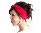 Turban Headband // Hair Wrap // Fabric Headband // Fashion Turban // Turband // Red