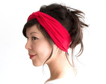 Turban Headband // Hair Wrap // Fabric Headband // Fashion Turban // Turband // Red
