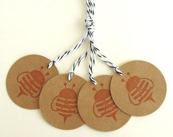 Sweet Bee Gift Tags - Set of 4