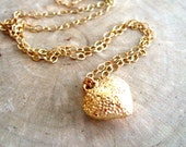 Heart necklace 14K goldfilled jewelry Gift for her Under 30 Layering necklace