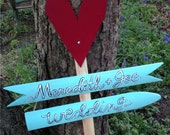 Wedding Directional Handpainted Wooden Pickets Sign