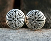 Cufflinks - Cuff Links - Silver Celtic Eternal Knot