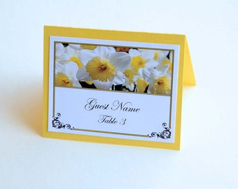 Wedding/Party Place Cards - Yellow Daffodil