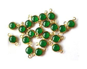 6 Vintage glass channel connectors beads, made in AUSTRIA  2 self loops, might be Swarovski