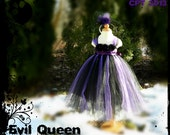 Evil Queen Inspired Disney Princess Dress 2 3 4 5 years Custom Boutique DM