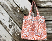 The Amy Overnight Bag (extra large) - Amber Heirloom print