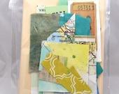 DIY Collage Card Making Kit - Yellow & Blue