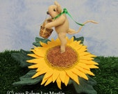 Sunflower, Pin Cushion, Mouse, Primitive Mouse